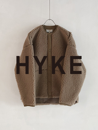 "HYKE ""FAUX SHEARING SHORT COAT"" 9.21 Sat. Release"