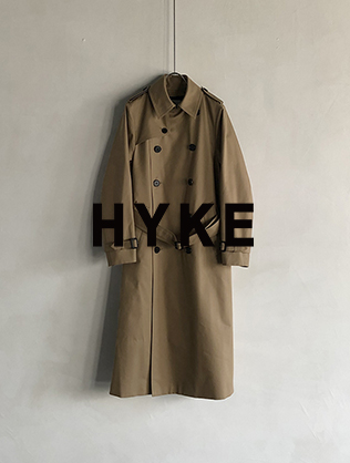 HYKE New Trench Coat Release 3.3 Thu