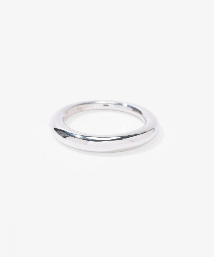 ALL BLUES -Hungry Snake Polished Silver Ring-