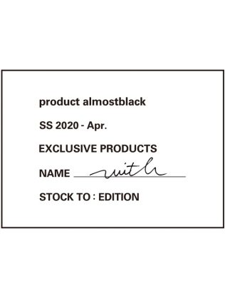 "product almostblack ""with"" 5.26 Thu Release"