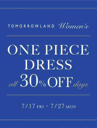 ONE PICECE DRESS all 30%OFF days
