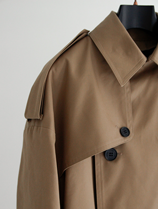 """〈HYKE〉 Trench Coat """"Big Fit"""""""